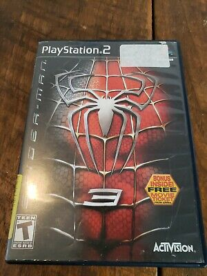 PS2 *NO MANUAL* SPIDERMAN SPIDER-MAN 3