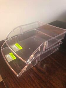 Clear Plastic A4 Document Filing Trays Set of 2 Newcastle East Newcastle Area Preview