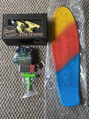 "Penny Nickel Custom Skateboard 27"" Sunset Fade New Shark Wheels Free T Tool"