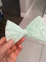 Light green hair bow 1$