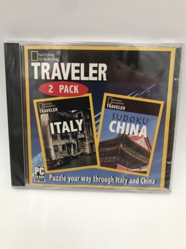 National Geographic Traveler 2 Pack PC Games Windows 10 8 7 XP Computer NEW