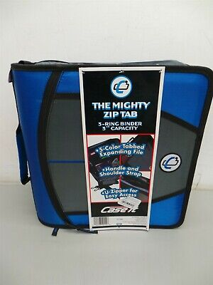 Case It D-146 The Mighty Zip Tab 3-ring Binder 3 Capacity Blue New