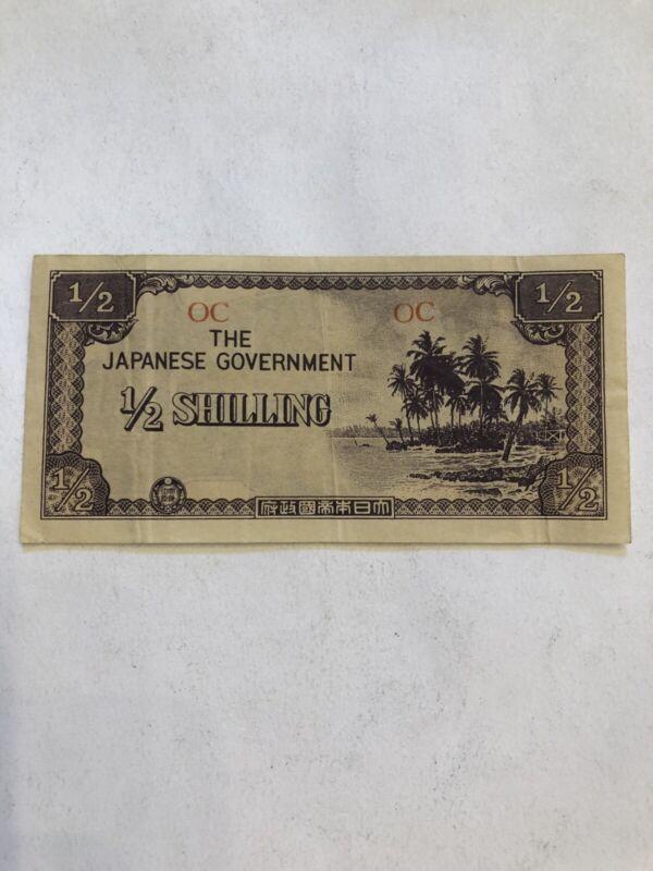 Oceania Japanese Invasion 1/2 Shilling 1942