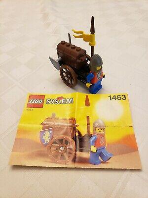 LEGO Castle Treasure Cart set 1463 - 100% COMPLETE with Manual (Vintage 1992)