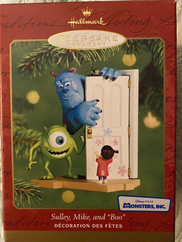 Hallmark Keepsake Ornament Disney Pixar Monsters Inc w/ Sulley Mike and Boo 2001