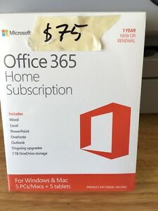 Office 365 home subscription.