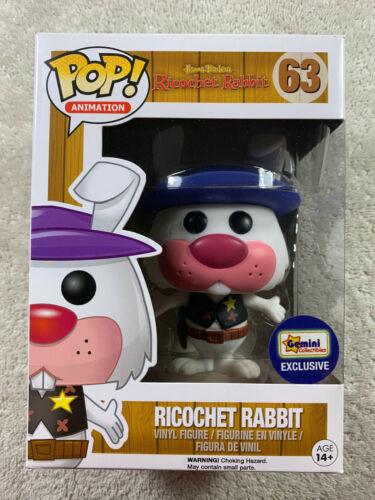 FUNKO POP VINYL ANIMATION #63 RICOCHET RABBIT PINK VERSION NYCC EXCLUSIVE