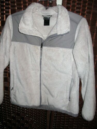 "North Face gray Denali fleece jacket L girls 14/16 years 38"" chest"