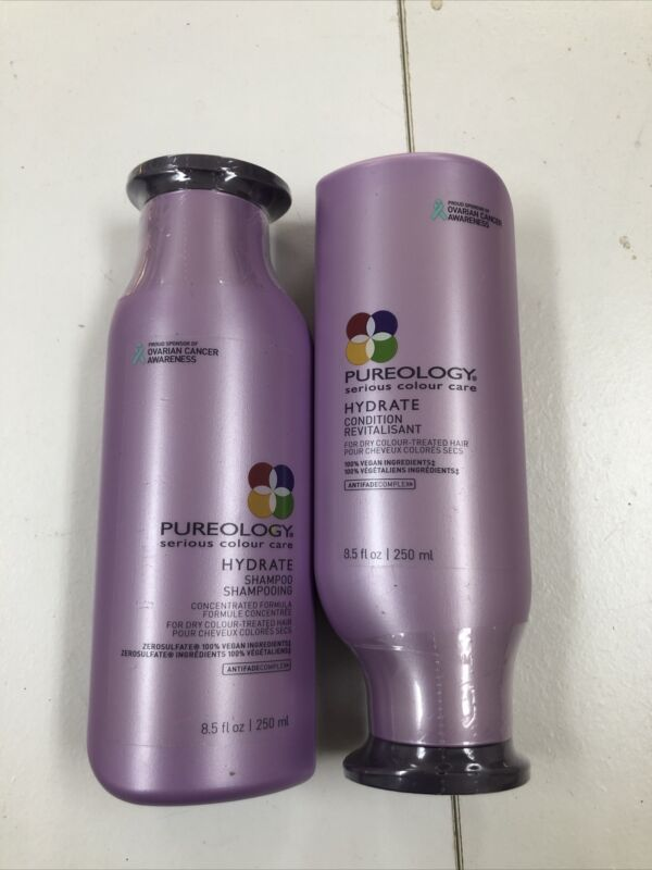 NEW AND SEALED Pureology Hydrate Shampoo and Conditioner Duo Set (8.5 OZ EACH)