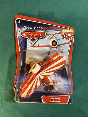 NEW Disney Pixar Cars BARNEY STORMIN Airplane Biplane Plane Toy Mattel
