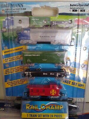 Brand new Bachmann 00957 HO Rail Champ Battery-Powered Train Sets