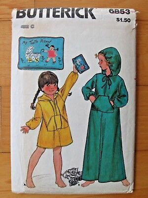 Child Tooth Fairy Costume (Sewing Pattern Butterick 6853 Girls Hooded Robe Long or Short Tooth Fairy)