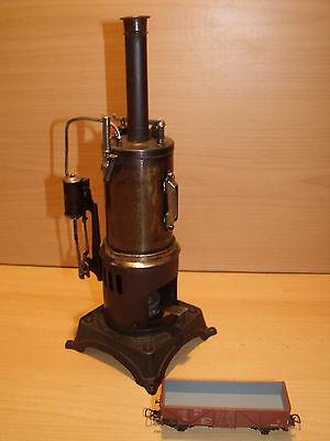 638) BING uralt  - Wunderschöne stehende Dampfmaschine KD 6,5cm - H.: 32 cm