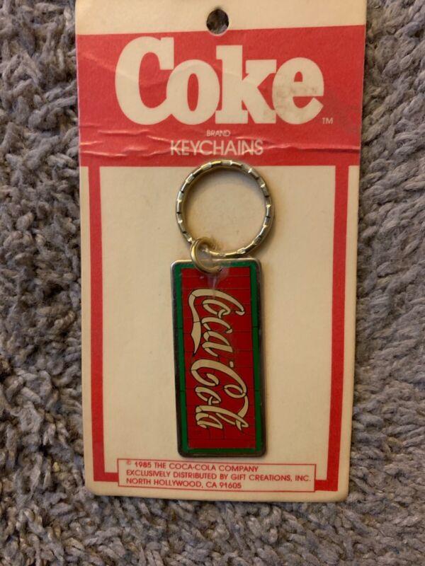 Vintage Coca-Cola Coke Metal Keyring Keychain MIP