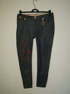 Apple Bottom jeans Size 12 size 7/8 dark wash Diamante detail
