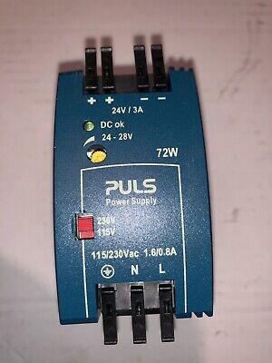 Puls Ml70.100 Power Supply 72w 3a 100-120220-240v New
