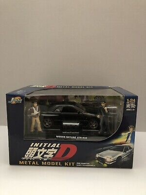 "Initial D Metal Model Kit 1:24 Diecast - Toyota Trueno AE86 ""RARE"" Black"