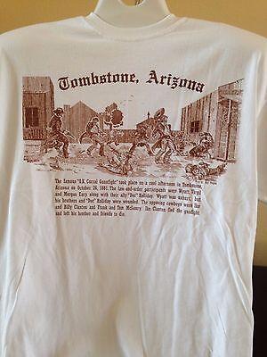 """Tombstone, AZ T-Shirt - """"OK Corral Gunfight""""  (NEW)"""