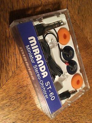 Mirinda Stereo Ohrhörer ST-60 OVP 80'Jahre