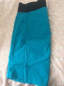 Fitted Turquoise Skirt