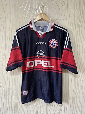 BAYERN MUNICH 1997 1999 HOME FOOTBALL SHIRT SOCCER JERSEY ADIDAS SCHOLL image
