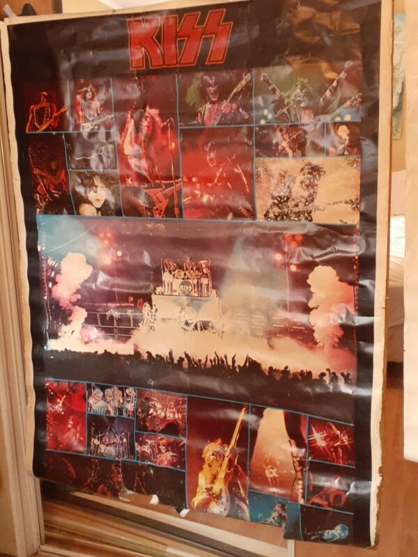 """Vintage KISS Army Jumbo Poster 42""""x 58"""" 1976 AUCOIN Boutwell Rare"""