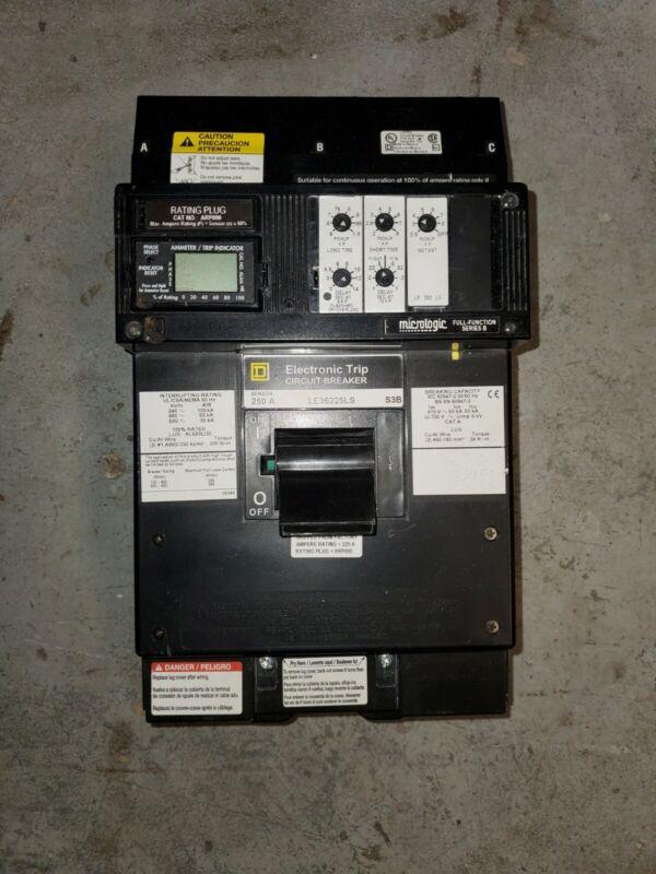 SQUARE D LE36225LS S3B 600V SENSOR 250 A. 3 POLES