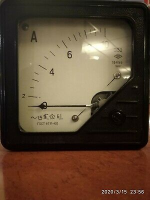 Vintage Analog Ammeter 0-10a From Laboratory Equipment 1968