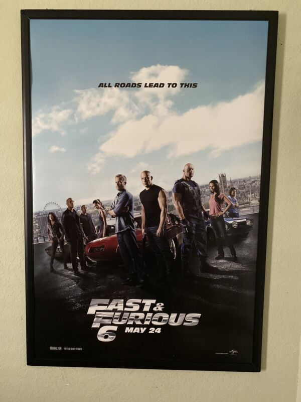 "Fast & Furious 6 Full Cast Movie Poster 27"" x 40"""