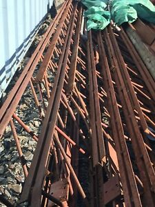 Steel beams 22 ' long  $100 each call 640-5892