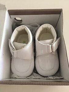 Baby baptism white booties -$10 Size 2