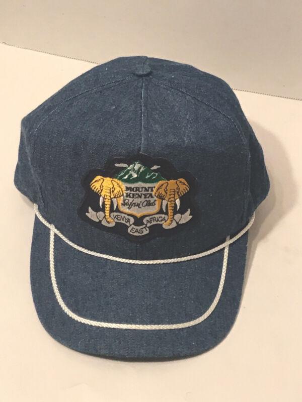 RARE Mount Kenya Safari Club,Kenya,East Africa Souvenir Snapback Denim Hat