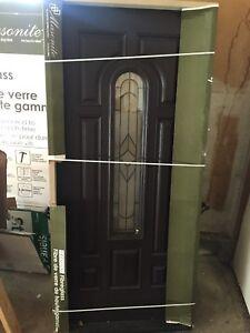 "36""x80"" beautiful Mahogany fibreglass door"