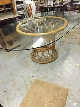 Vintage Glass/Cane Table Petersham Marrickville Area Preview