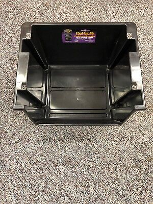 """Nesting Storage Stackable Container used Bin.  19"""" X 15.875"""" X 12.5"""" lot of 100"""
