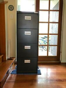 Filing Cabinet - Lockable charcoal as new