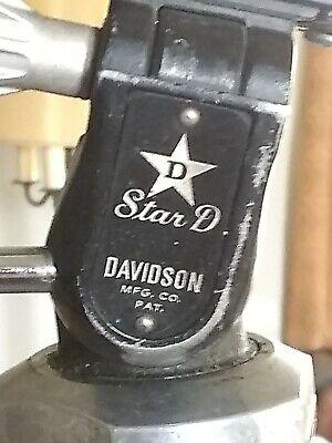 Vintage Camera Adjustable Black Aluminum Tripod used Davidson Star D Great Shape