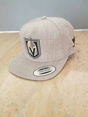 Knights Classic Hat - Vegas Golden Knights Gray Yupoong Snap Back Classics Hat Flat Bill Cap