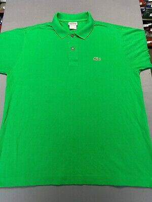 Lacoste Short Sleeve Green Polo Golf Shirt Men's Size 5 100% Cotton