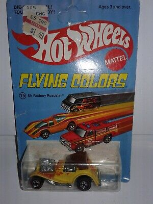 HOT WHEELS FLYING COLORS REDLINE SIR RODNEY ROADSTER #8261 Unpunched! Rare 1975