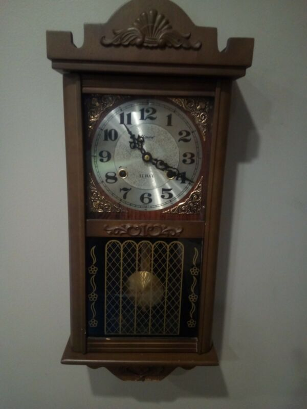 Vintage Alaron 31 Day Clock Working Condition Chimes