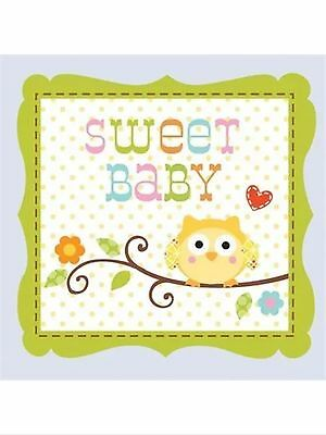 Happi Tree Owl Baby Shower Party Supplies-Boy Sweet baby Beverage Napkins 16ct.](Owl Baby Shower Supplies)