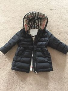 Burberry children down-filled coat size 2
