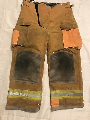 Lion Body Guard Firefighter Turnout Pants Bunker Gear W Liner 36 X 28
