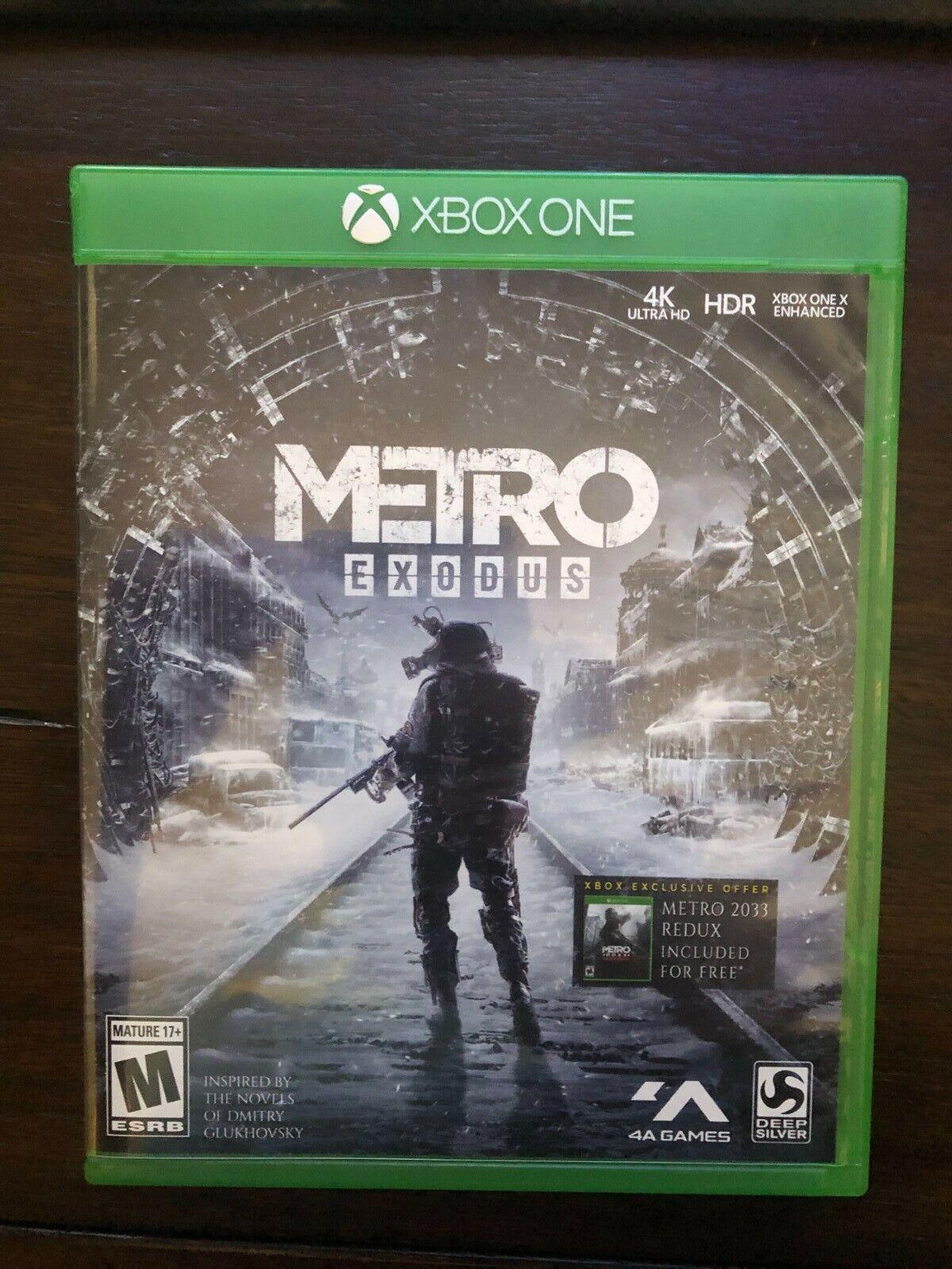 Metro Exodus - Microsoft Xbox One FREE Copy Of Metro 2033 Redux - $8.00