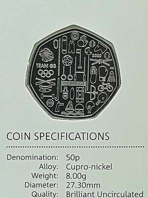 2020 Team GB BU 50p Coin - Brilliant Uncirculated Fifty Pence - Tokyo Olympics