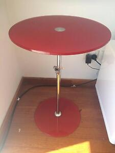 Red Glass Side Table Leichhardt Leichhardt Area Preview