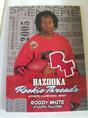2005 Bazooka Football Jersey Rookie Threads Roddy White Atlanta Falcons image