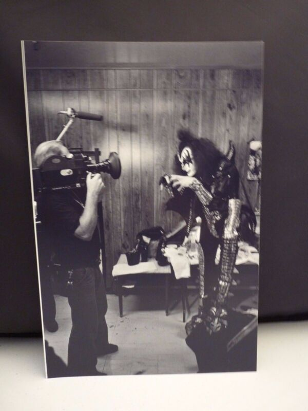 Kiss 1977 L.A. Forum Gene Simmons Backstage 8x12 Photo #3 From Original Negative