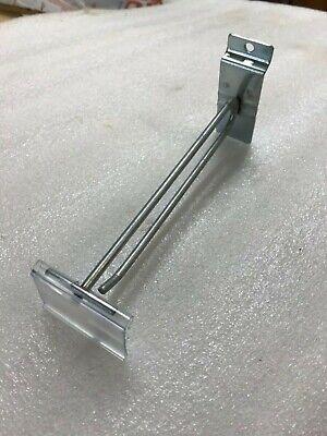 Flip Scan Slat Wall 6 Zinc Hooks Lot Of 50 - W New 2 Label Holder